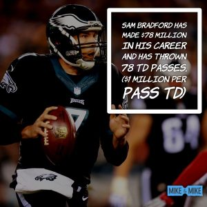 The Eagles need to cut Sam Bradford, but could he retire before they get an option