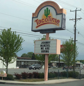 Hey Johnny at least one place wants to hire you