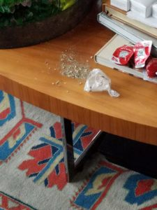Here is a photo of drugs found at the house trashed by Manziel