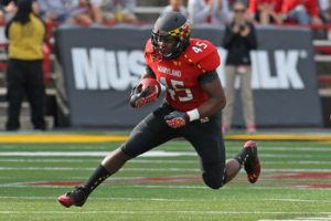 Maryland running back Brandon Ross has been released by the Vikings