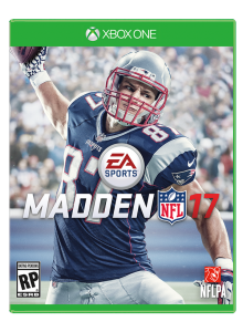 Patriots tight end Rob Gronkowski is on the cover of Madden 17