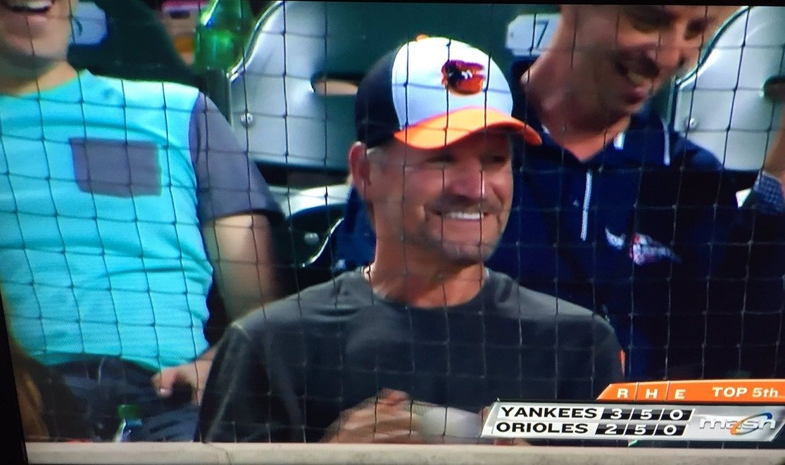 Bill Cowher was booed by the Baltimore Orioles fans even though he was there supporting the team