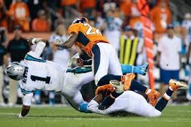 Broncos safety was fined 18k for his hit on Cam Newton