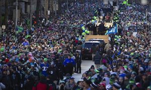 Seahawks rally was cancelled by Dupont Mayor