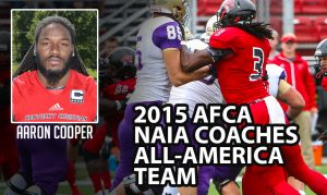Aaron Cooper is a playmaker at the NAIA level. He is a ball player folks
