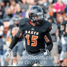 Baker University linebacker Akim Francis is a one man wrecking crew