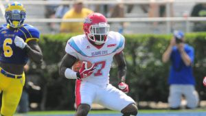 Delaware State wide out Aris Scott is a playmaker for the Hornets