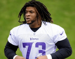 Vikings offensive lineman Isame Faciane was arrested for suspicion of drunk driving