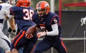 Utica wide out Jerred Beniquez is a solid slot wide out that could gauge interest from NFL clubs.