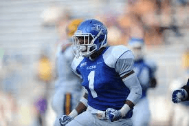 CCSU CB Jevon Elmore is a very good player. NFL scouts love his abilities.