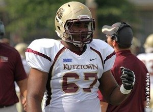 Kutztown offensive lineman Jordan Morgan is a solid player. NFL teams will love his size