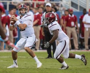 Southern Illinois quarterback Josh Straughan is a gunslinger. I love his style