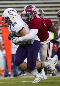 Henderson State linebacker Joshua Davis will make you pay if you hold the ball too long