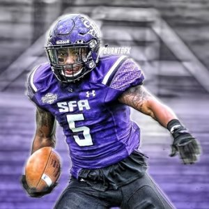 Justice Liggins of SFA is a big time playmaker. He can make you miss and run you over