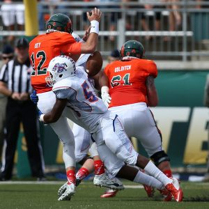 Marcus Lee of Savannah State has a knack for getting after the quarterback.