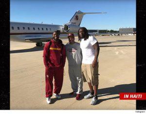 Pierre Garcon and Ricky Jean Francois delivered medical supplies today to Haiti