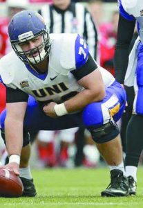 University of Northern Iowa center Rob Rathje is a beast in the middle of the line