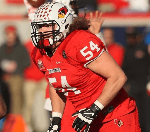 Illinois State University offensive lineman Mark Spelman is a monster in the middle of the field