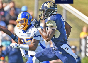 Jordan Berry the wide out from Wingate is a deep threat