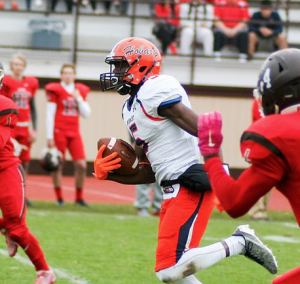 Hobart wide out Brandon Shed has big play ability and uses it