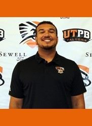 Corin Brooks of UTPB is a big boy with athletic ability