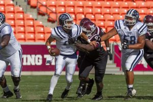 Texas Southern pass rusher Damond King is a powerful player