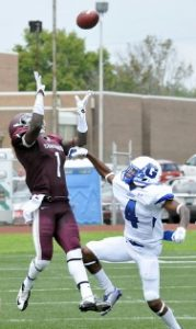 Davon McGill is physical, he played both WR and LB for Concord University