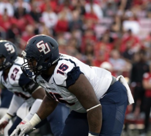 Roosevelt Donaldson of Samford is a beast. He is a monster for the Bulldogs