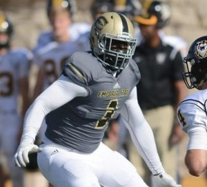 De'Andre Glover the linebacker at Emporia State is a machine in the middle of the field
