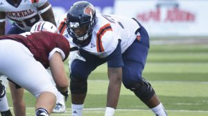 Julien Davenport of Bucknell is the best small school offensive lineman in the draft.