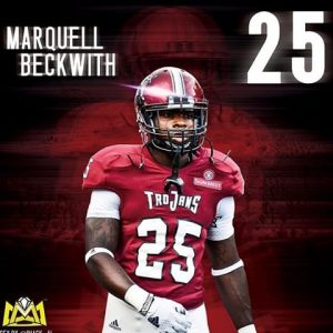 Marquell Beckwith was a graduate transfer to Alabama State from Troy. The kid is quick and can catch out the backfield