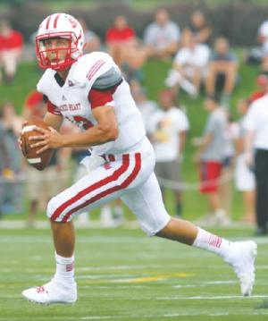 Sacred Heart quarterback R.J. Noel is a dual threat quarterback that reminds me of Russell Wilson
