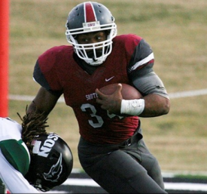 Terence Olds of SNU is a hard runner that gets the job done.