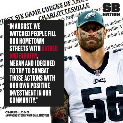 Charlottesville native Chris Long is not just talking about the incident  that shocked the world in Charlottesville eb31ed4fd