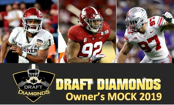 Damond Talbot the owner of NFL Draft Diamonds is dropping his second mock  draft of the year 9863e5541