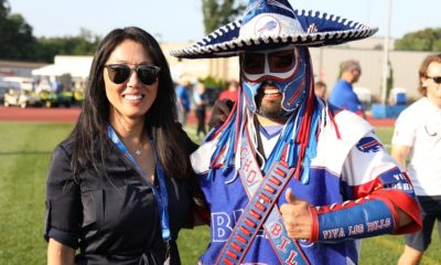 Kim Pegula and Pancho Billa Mars Bills land on Mars