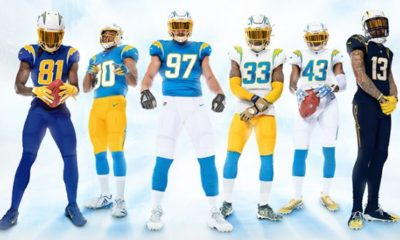 Chargers new uniforms