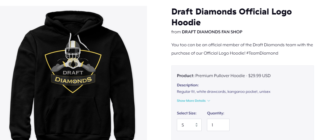 Draft Diamonds Official Logo Hoodie