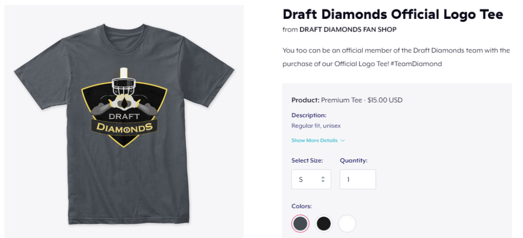 Draft Diamonds Official Logo Tee