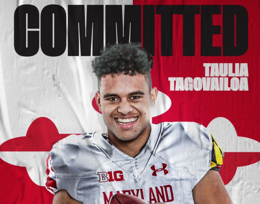 Quarterback Taulia Tagovailoa to join the Terrapin football program