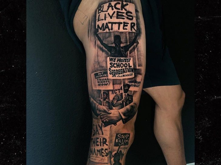 Kenny Stills BLM tattoo