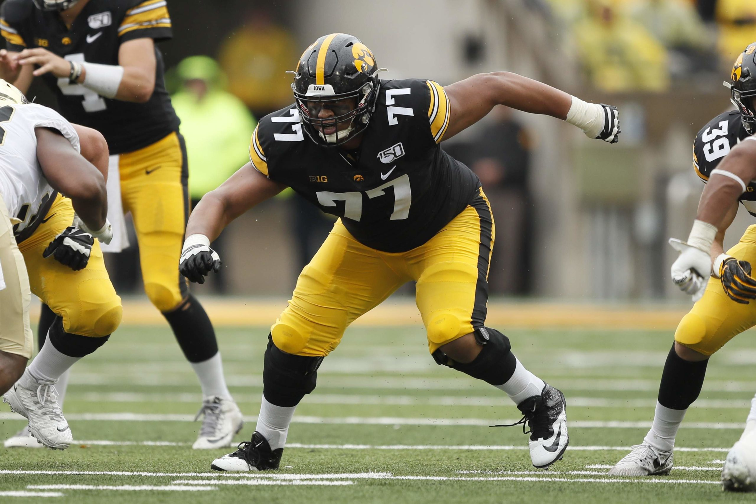 Iowa OL Alaric Jackson is an athletic offensive lineman with a mean streak