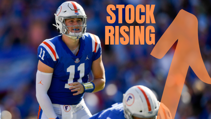 Kyle Trask Stock Rising
