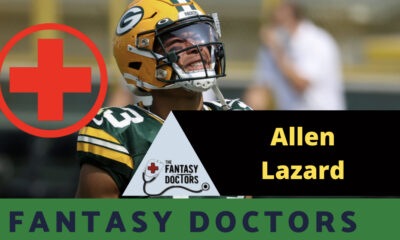 allen Lazard packers fantasy injury