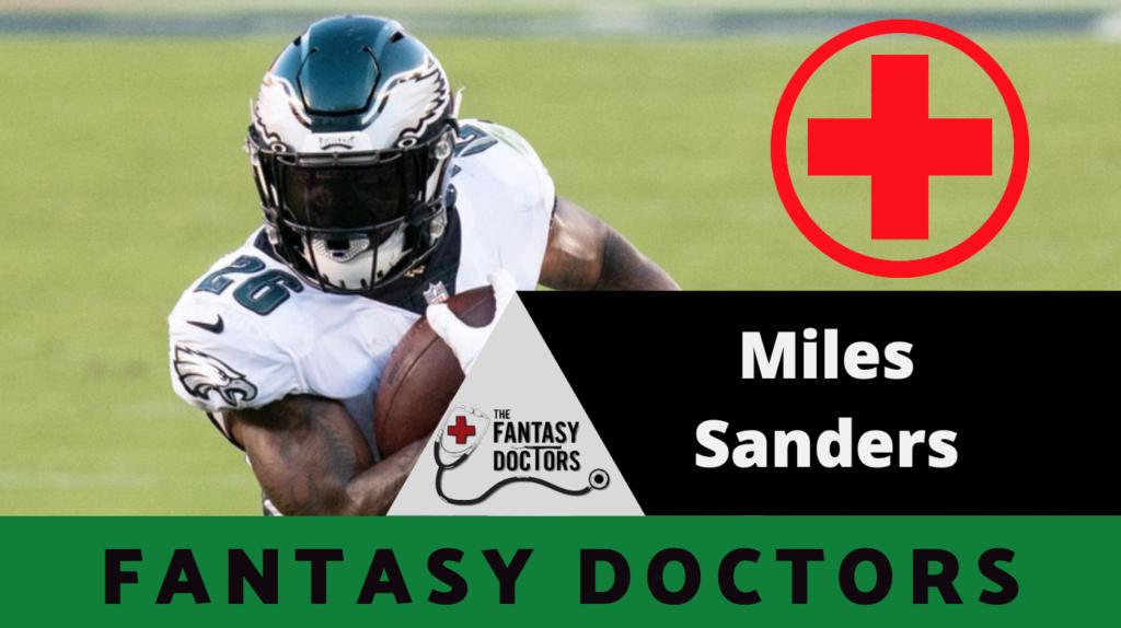 Miles Sanders Eagles Injury Fantasy Doctors