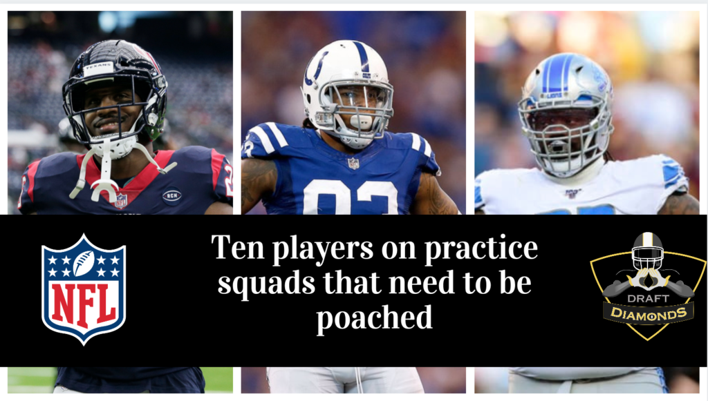 10 practice squad players