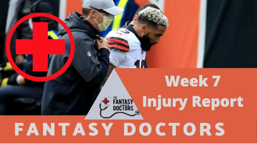 Fantasy Doctors week 7 injury report