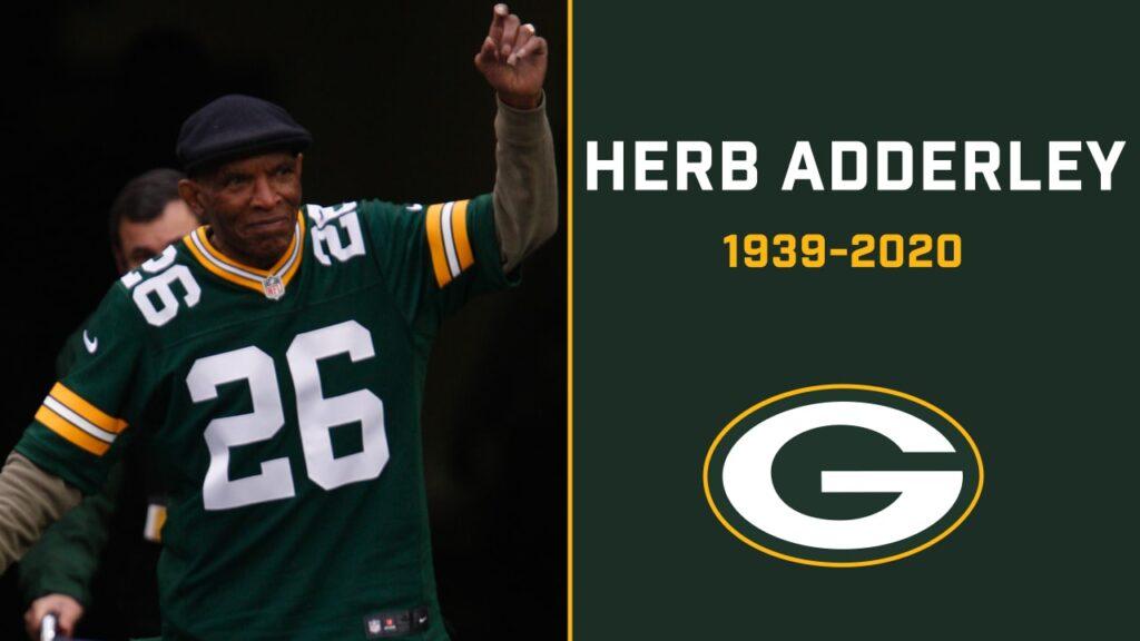 Herb Adderley Packers dead