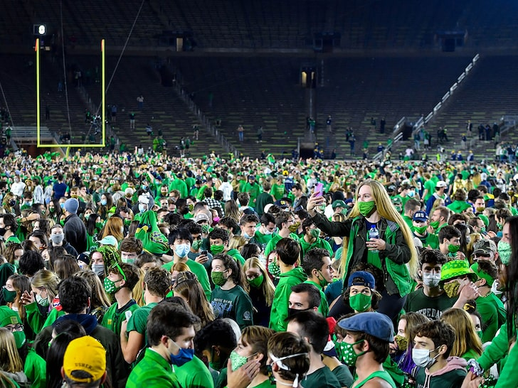 Notre Dame Storming the field