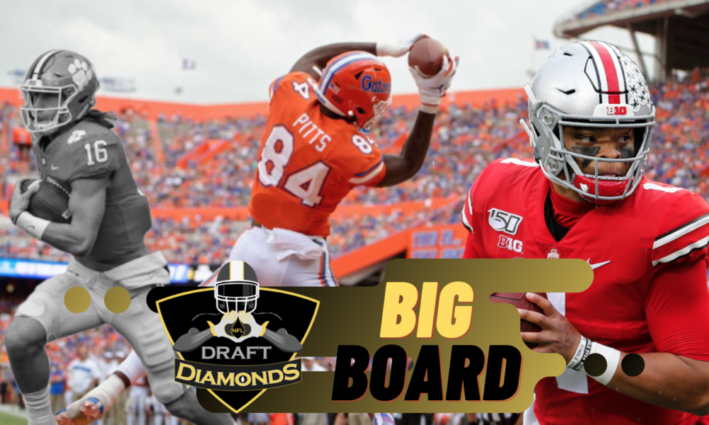 NFL Draft Diamonds Big Board